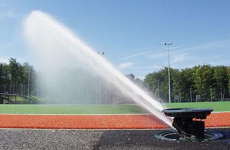 полив футбольного поля